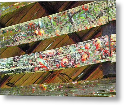 Metal Print featuring the photograph Barn Art by Larry Bishop