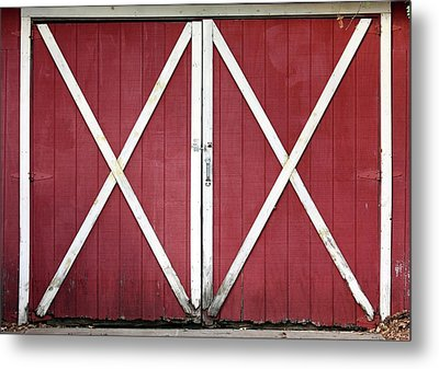 Metal Print featuring the photograph Red Barn Doors by Sheila Brown