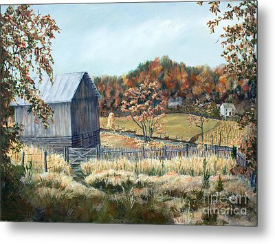 Barn From Long Ago Metal Print by Janet Felts