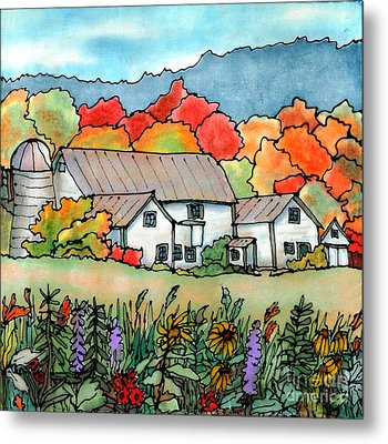 Barn In Pomfret Vermont Metal Print by Linda Marcille
