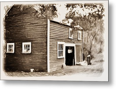 Barn In The Woods Metal Print