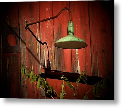 Barn Light Metal Print