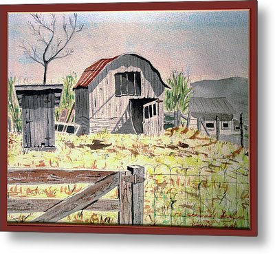 Barn On Fisk Rd Metal Print