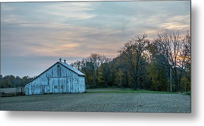 Barn On Furnas-oglesby Rd Metal Print