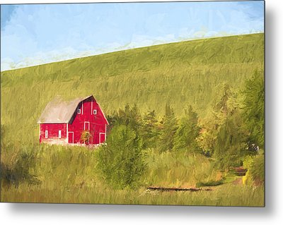 Barn On The Hill II Metal Print by Jon Glaser