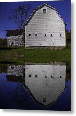 Barn Reflection Metal Print by Garry Gay