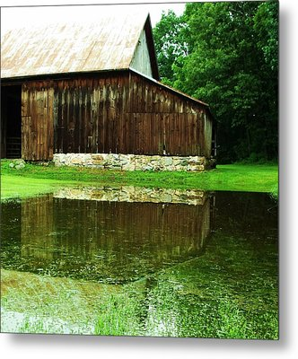 Barn Reflection I Metal Print by Anna Villarreal Garbis