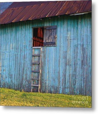 Barn Shadows. Vermont Metal Print