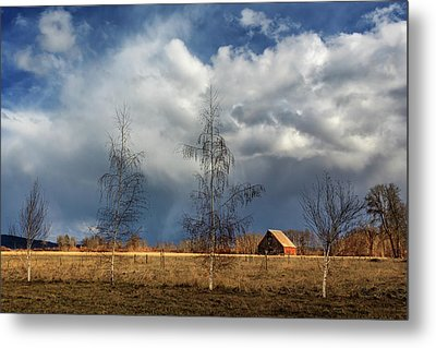 Metal Print featuring the photograph Barn Storm by James Eddy
