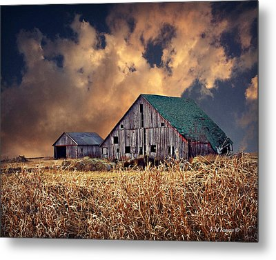 Barn Surrounded With Beauty Metal Print by Kathy M Krause