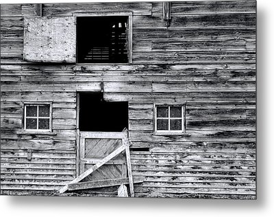 Barn Texture Metal Print by Wayne Sherriff