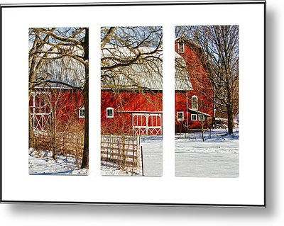 Barn Triptych Metal Print by Pat Cook