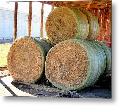 Barn With Hay 3 Metal Print by Lanjee Chee