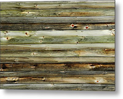 Barn Wood Texture  Metal Print