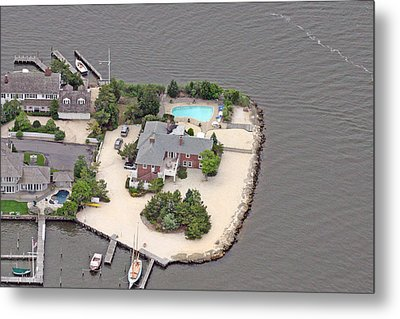 Barnegat Bay House Mantoloking New Jersey Metal Print by Duncan Pearson