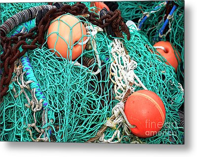 Metal Print featuring the photograph Barnegat Fishing Nets by John Rizzuto