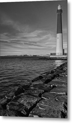 Barnegat Lighthouse Bw Metal Print