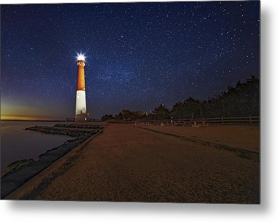 Barnegat Lighthouse Under The Stars Metal Print