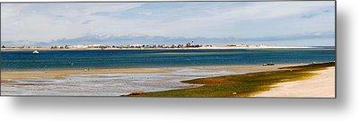 Barnstable Harbor Panorama Metal Print by Charles Harden