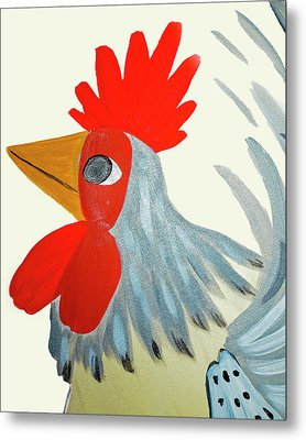 Barnyard King Metal Print