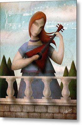 Baroque In Heart Metal Print