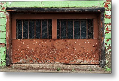 Barred And Weathered Metal Print by Royce Howland