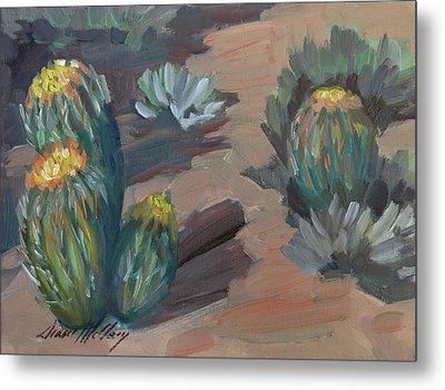 Barrel Cactus At Tortilla Flat Metal Print by Diane McClary