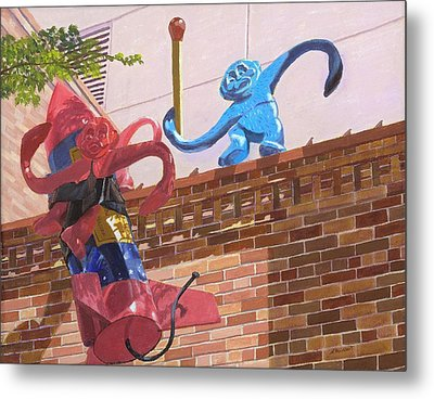 Metal Print featuring the painting Barrel Of Fun by Lynne Reichhart