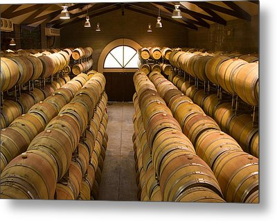 Barrel Room Metal Print by Eggers Photography