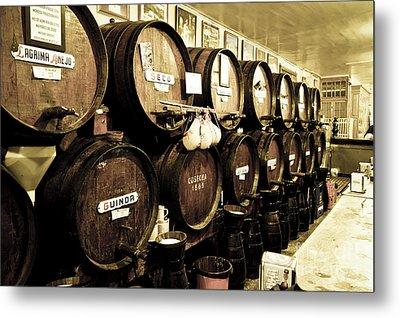 Barrels At Old Tavern Antigua Casa De Guardia Metal Print by Perry Van Munster