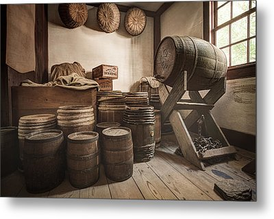 Barrels By The Window Metal Print by Gary Heller