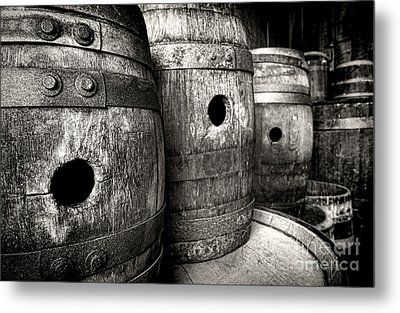 Barrels Of Laugh Past  Metal Print by Olivier Le Queinec