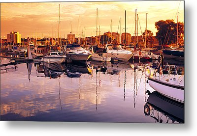 Barrie Marina Sunrise Metal Print