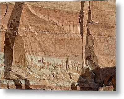 Barrier Canyon Paintings Metal Print by Kathleen Bishop