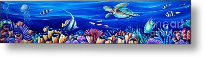 Barrier Reef Metal Print by Deb Broughton