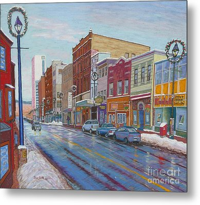 Barrington St In Winter Metal Print by Rae  Smith