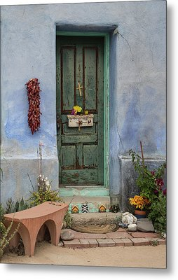 Barrio Door Metal Print