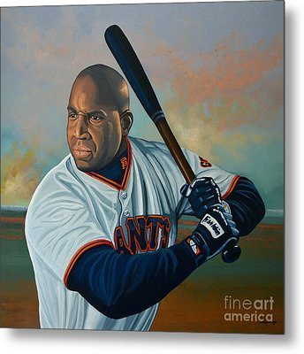 Barry Bonds Metal Print by Paul Meijering