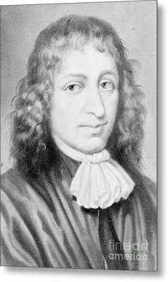Baruch Spinoza, Jewish-dutch Philosopher Metal Print by Photo Researchers