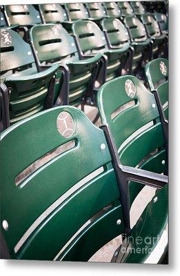 Baseball Ballpark Seats Photo Metal Print by Paul Velgos