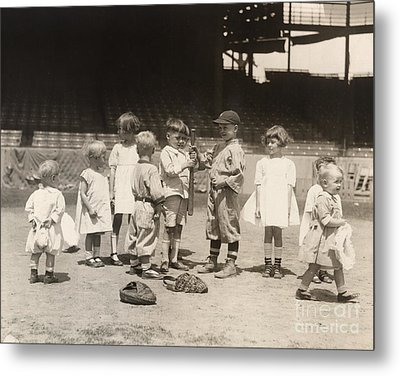 Baseball: Boys And Girls Metal Print by Granger