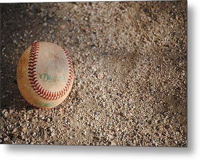 Baseball Metal Print by Bransen Devey