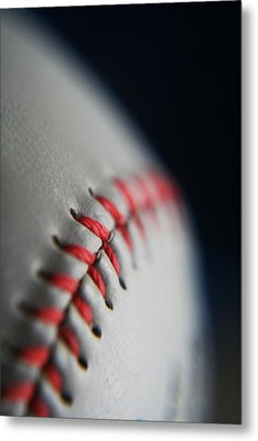 Baseball Fan Metal Print by Rachelle Johnston
