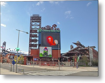 Baseball In Philadelphia - Citizens Bank Park Metal Print by Bill Cannon