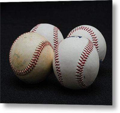 Baseball Quartet Metal Print