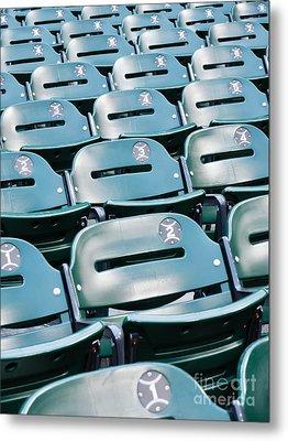 Baseball Stadium Seats Metal Print by Paul Velgos