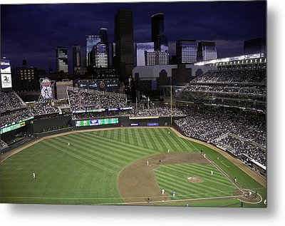 Metal Print featuring the photograph Baseball Target Field  by Paul Plaine