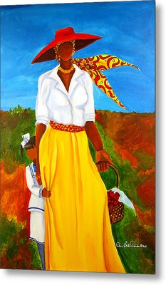 Metal Print featuring the painting Bashful Beauty by Diane Britton Dunham