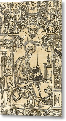 Basil Of Caesarea, Also Called Saint Basil The Great Metal Print by Pyotr Mstislavets