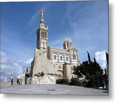 Basilica Notre-dame-de-la-garde, Marseilles, France Metal Print by Elenarts - Elena Duvernay photo